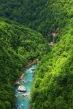 The Tara River Canyon also known as the Tara River Gorge in Montenegro Royalty Free Stock Photo