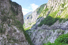 Tara river canyon in Montenegro horisontal. Tara river canyon in Montenegro mountainscape horisontal Stock Photography