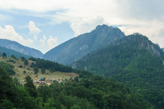 Tara River Canyon. Montenegro. View of the River Tara Bridge Royalty Free Stock Photos