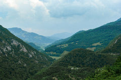 Tara River Canyon. Montenegro. View of the River Tara Bridge Stock Images
