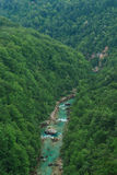 Tara River Canyon. Montenegro. View of the River Tara Bridge Royalty Free Stock Image