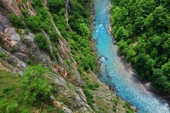 The Tara River Canyon also known as the Tara River Gorge in Montenegro Stock Image