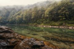 Tara rivierlandschap in Bosnië Stock Fotografie