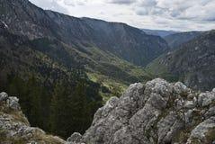Tara's canyon viewed from Curevac Stock Photo