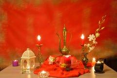 Tara statue and candles Royalty Free Stock Photos