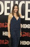 Tara Westwood. Actress and model Tara Westwood arrives on the red carpet for the New York premiere of HBO`s multi-part drama, `The Deuce.`  The dramatic series Royalty Free Stock Photos