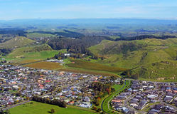 Taradale and Mission Estate Winery Aerial View, New Zealand Stock Photography