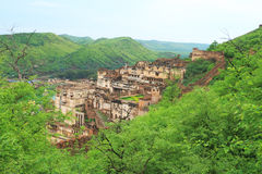 Taragarh fort bundi india. One of the best forts india,still standing atop hill with surrounding walls Stock Images