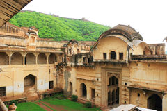 Taragarh fort bundi india. One of the best forts in india, still standing regally atop a hill containing ancient monuments and ruins and a palace Stock Images