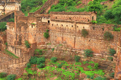 Taragarh fort bundi india. One of the best forts in india, still standing regally atop a hill containing ancient monuments and ruins and a palace Royalty Free Stock Image