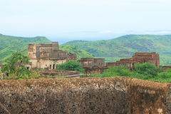 Taragarh fort bundi india. One of the best forts in india, still standing regally atop a hill containing ancient monuments and ruins Stock Photography