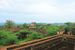 Taragarh fort bundi india. One of the best forts in india, still standing regally atop a hill containing ancient monuments and ruins Royalty Free Stock Image