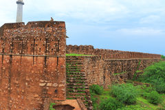 Taragarh fort bundi india. One of the best forts in india, still standing regally atop a hill containing ancient monuments and ruins Stock Images