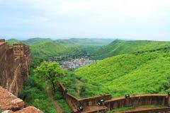 Taragarh fortbundi Indien Arkivbild