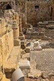 Taragona圆形露天剧场罗马废墟在西班牙 免版税库存图片