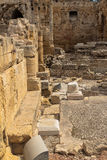 Taragona amphitheatre roman ruins in spain Royalty Free Stock Image
