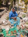 Tarahumara artisanale verkoper stock fotografie