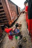 Tarahumara indier - kopparkanjon - Mexico royaltyfria foton