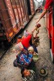 Tarahumara indier - kopparkanjon - Mexico royaltyfria bilder