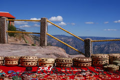 Tarahumara made souvenirs sold in the Copper Canyons, Chihuahua Stock Photo