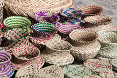 Tarahumara's handicraft. Mexico. Tarahumara's handicraft - the product was laborated of needles of pine royalty free stock image