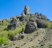 Taraktash range in Crimean mountains Stock Photo
