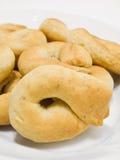 Taralli. Alimento italiano. fotografía de archivo