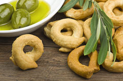 Taralli biscuit Stock Image