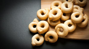 Taralli from puglia italy. Typical product of region puglia in italy known as taralli Royalty Free Stock Images