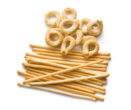 Tarallini bread  and  grissini sticks Royalty Free Stock Images