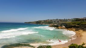 Taramara beach, Bondi-Bronte coastal walk. Sydney, Australia Royalty Free Stock Images