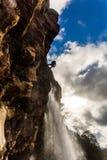 Taranaki cai córrego - parque nacional de Tongariro fotografia de stock royalty free