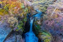 Taranaki cai córrego - parque nacional de Tongariro foto de stock royalty free