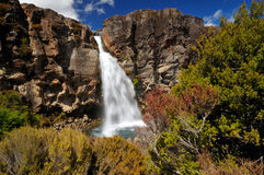Taranaki Falls, Tongariro NP, New Zealand Stock Photo