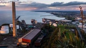Taranaki Port and coastline stock photo
