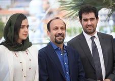 Taraneh Alidoosti, Asghar Farhadi, Shahab Hosseini Στοκ Φωτογραφίες