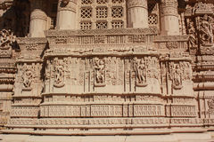 Taranga Jain Temple stone carving Royalty Free Stock Image
