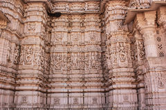 Taranga Jain Temple stone carving Stock Image