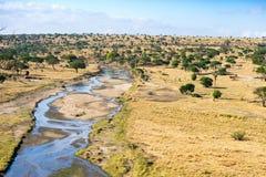 Tarangire河视图 库存图片