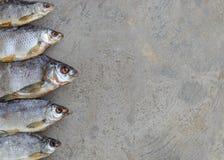 Taranka, ξηραμένα από τον ήλιο αλμυρά ψάρια ποταμών, κλασικό πρόχειρο φαγητό μπύρας Στοκ Φωτογραφίες