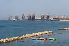 Taranto (Apulia) - de haven Stock Afbeelding