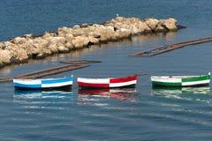 Taranto (Apulia, Italia) - tres barcos Foto de archivo