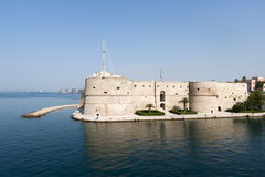 Taranto (Apulia, Italy) - Old castle on the sea royalty free stock photography