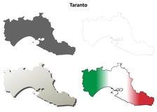 Taranto blank detailed outline map set. Taranto province blank detailed outline map set Stock Photography