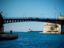 The taranto bridge on the taranto canalboat Royalty Free Stock Photos