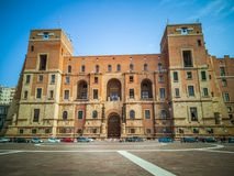 The Government building seat of the Prefecture in Taranto Italy. TARANTO, ITALY. October 21, 2017: The Government building, located in Taranto, is the seat of royalty free stock images