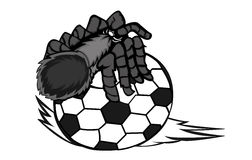 Tarantula Creeping on Ball Cartoon Stock Image