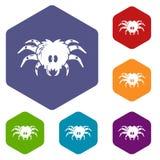 Tarantula icon, simple black style. Tarantula icon. Simple illustration of tarantula vector icon for web royalty free illustration