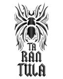 Tarantula lettering design Royalty Free Stock Image