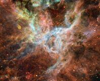 Tarantula Nebula, Central Portion Royalty Free Stock Photo